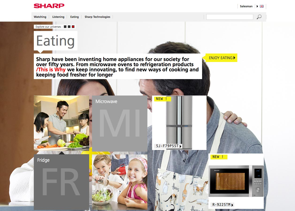 Screenshot Sharp E-Brochure