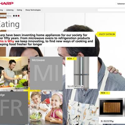 Screenshot Sharp E-Brochure